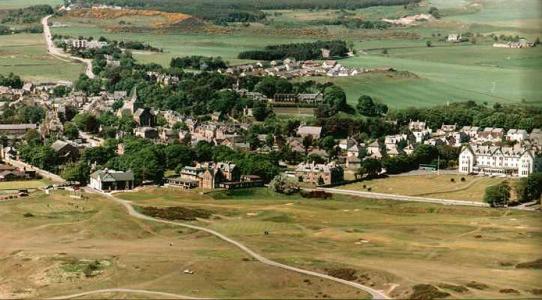 Dornoch aerial view
